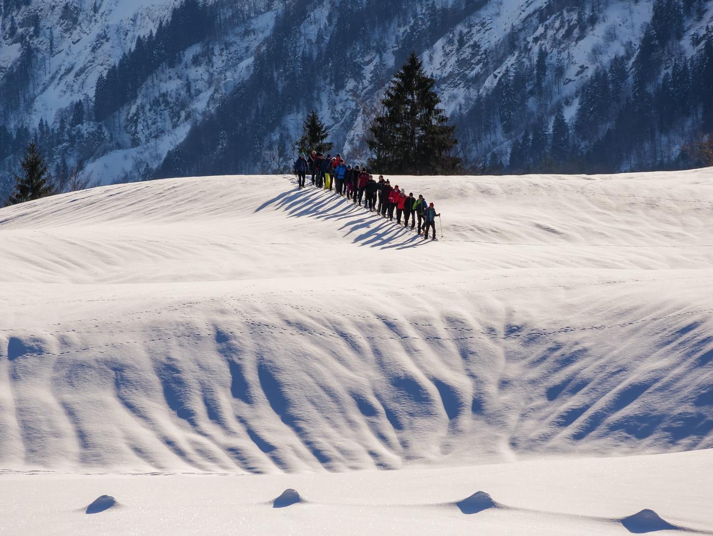 Annahme: Wintersportt in der Gruppe | ©  Birgit Ziolkowski