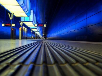 Blue Trainstation   © Karl-Heinz Ziolkowski