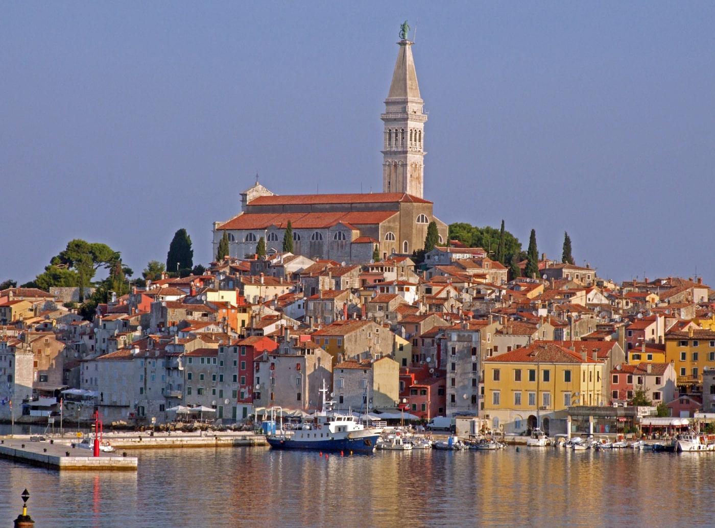 Kroatien, Istrien, Rovinj, Stadtansicht, Kirche Hl. Euphemia (Sveta Eufemija)